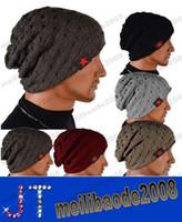 Wholesale Men s Knit Winter Hat Beanie Reversible Skull Chunky Baggy Warm Cap MYY13931