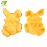 easter bunny - Silicone Mold Easter Bunny Holding Egg Pastry Baking Tools Cake Mold dandys