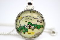 american wood houses - 10pcs Hundred Acre Wood Map Aker Wood Owl s House Christopher Robin s House Necklace Glass Cabochon Necklace