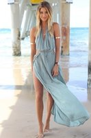 sundresses - New Hot Sale Plus Size Dress Summer Women Lady Loose Hollow Out V Neck Maxi Sundress Long Beach Dress S M L