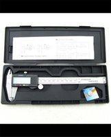 Wholesale 150mm mm LCD Micrometer Guage Digital Caliper Vernier Digital Vernier Calipers S1008 free shpping