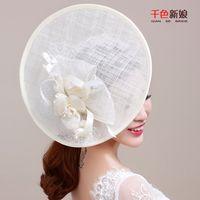 ancient ones - 2016 new bride ceremony manual studio style restoring ancient ways flax decoration hat european style jalam wedding tiara wedding dress