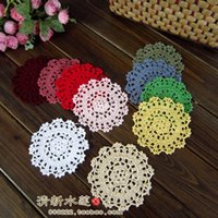 best coasters - best selling30pic cm round korea fabric felt mat home decoration pad coaster for dinning table coaster pad