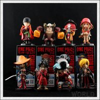 bid lot - Japaness Anime Cosplay One Piece Monkey Luffy Action Figures Model Collection Kids Bids Birthday Gift