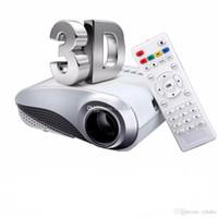 al por mayor vga digital-H60 portátil 3D LED Proyector LCD multimedia de cine en casa proyector HD HDMI VGA AV USB TV Full HD 1080p Proyector de Beamer Projetor