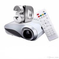 beamer hdmi - H60 Portable D LED Projector LCD Multimedia Home Cinema HD Projector HDMI VGA USB AV TV P full hd Proyector Beamer Projetor