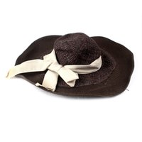 Cheap Wide Brim Hat grass Hats Best Black Embroidered lady toppers