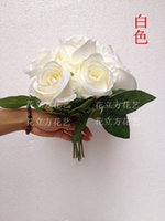 Cheap Bridal Bouquet Wedding Rose Flower Handmade Fashion Elegant Sale