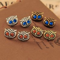 Wholesale NEW Vintage Style Jewellery Fashion womans OWL Stud Earrings