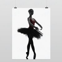 One Panel Digital printing Fashion Light Art Photography Silhouette Posture F Modern Classic Elegant Beautiful Girl Ballet Dancer Pop Posters Print Wall Decor Canvas Paintings