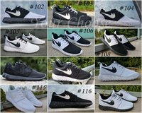 Wholesale 2015 New Id Custom Roshe Run Shoes Oreo Black White Fashion Men s Women s Roshe Running London Olympic Walking Sporting Shoes Sneakers