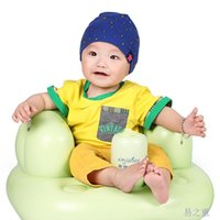 Wholesale Export European Thickening Baby Inflatable Sofa Kids Learn stool Baby Bath seat Dining Training Chair with PVC Blue Green A5