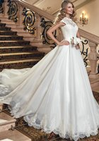 www.aliexpress.com - http www aliexpress com item New Arrivals Scoop Lace Up Sleeveless Chapel Train Sashes Crystal Lace A Line Wedding Dresses
