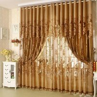 Wholesale 100 cm Modern Fashion High Quality Window Screening Curtain Finished Product Window Curtains Without Blackout Lining Curtain