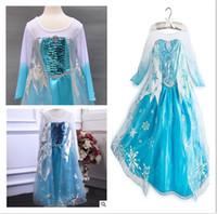Cheap anna elsa dress Best Girls Costume