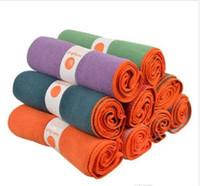 Wholesale 100pcs Fashion Yogitoes Skidless Yoga Mat Towel Silicon Nubs Brand New Non Slip Towel Any Colors Fash Ship Gram