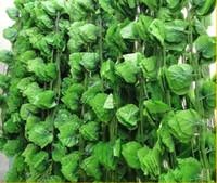 artificial grape vines wholesale - 2 M artificial Grape leaves grape vine plants vine leaves decoration rattan