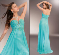 affordable pageant gowns - Affordable Sexy Sweetheart Neck Crystals Beading Pleats Column Chiffon Sleeveless Sweep Train Pageant Prom Gowns Evening Dresses