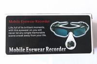 Wholesale Spy glasses New HD P Camcorder Eyewear spy Sunglasses Cameras Mini DVR DV Audio Video Recorder Cam glasses camera