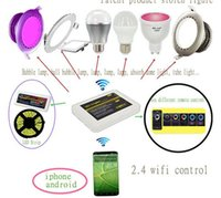 android app m - m ilight G Wireless zone rgb rgb w strip Controller wifi APP iOS Android RF Remote control for led strip