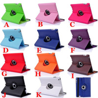 Case 9.7'' For Apple 360 Degree Rotating Cases Rotary PU Leather Stand Case Cover For iPad 4 3 2   iPad Air   iPad Mini Tablet PC Cases Bags