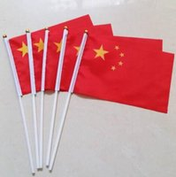 Wholesale 100PCS Promotion China Hand Waving Flag Chinese flaf cm National Flag for Decoration Activity World Cup