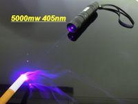 Wholesale 405nm purple blue violet laser pointers focusable burning black match cigarettes Uv counterfeit detector