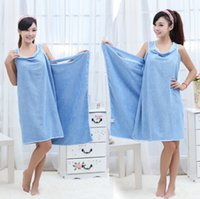 Wholesale Absorbent Wearable Microfiber Bath drying Towel Travel Spa Magic WashCloth Skirt