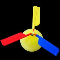 Unisex balloons gift bags - Traditional Classic Balloon Airplane Helicopter For Kids Child Bag Filler Flying Toy Gift outdoors random color