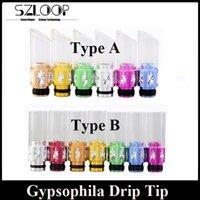 Wholesale Colorful Babysbreath Drip Tip EGO Dripper Gypsophila Mouthpiece RDA RBA Dripper Tip DHL Free