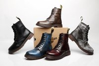 Wholesale Men s genuine leather Martin boots Motorcycle boots ankle boots