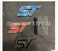 Wholesale pieces D Metal ST Front Grill Grille Emblem Badge Metal For Mondeo ST Red