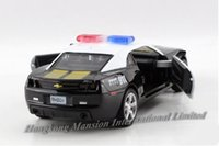 Wholesale Scale Alloy Diecast American Police Car Model For Chevrolet Camaro Collection Pull Back Toys Car Black