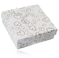 big jewellery box - 9 High Quality Gilding Paper Heart Big Square Jewelry Boxes with Sponge Opp Bags bowknot Jewellery Gifts Case Box Y6045