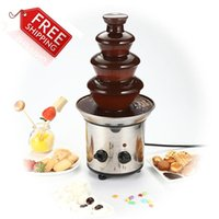 chocolate fountain - Chocolate Fountain Fondue Event Wedding Children Birthday Festive Party Supplies Christmas Waterfall Machine A3