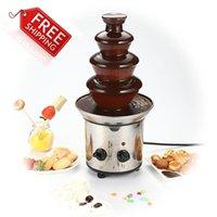 Wholesale Chocolate Fountain Fondue Event Wedding Children Birthday Festive Party Supplies Christmas Waterfall Machine A3