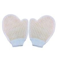 bath spa shop - Shower Bath Gloves Towel Exfoliating Wash Skin Spa Foam Towel Gloves Massage Scrubber Hemp Body Towel B2C Shop