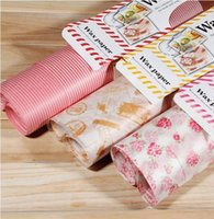 Wholesale Baking ingredients cake color packaging food grade silicone paper greaseproof paper butter paper three kinds of patterns bo