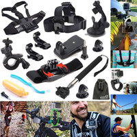 Wholesale 12 in GoPro Accessories Set Go pro Remote Wrist Strap Helmet Extention Kits Mount Chest Belt Mount Bobber For Go pro Hero