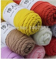 Wholesale rolls pack g roll knitting wool yarn for winter scarf