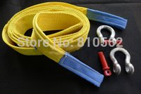 Wholesale Car trailer rope meters Tons Truck Car Towing Rope hook Car Tow Rope Strap Belt Towing Ropes Real materials