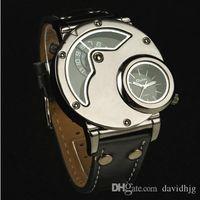 aviator watches - Original New Russian Aviator Pilot Army Military Quartz Mens Wrist Watch Dual time black leather band