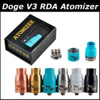 Cheap DOGE V3 RDA Atomizer Doge V4 Rebuidable Dripping Vape 22mm Big holes VS Mutation X monkey taifun little boy rda big dripper RDTA atomizer