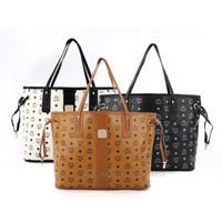 fashion tote bags - Famous brand MCM handbags women shoulder bags hot Fashion designer totes purses ladies leather bags female business bolsas M