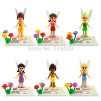 bell child - Tinker Bell Minifigures Silvermist Rosetta Iridessa Fawn Figures Frozen Building Block Sets Model Bricks Toys For Children