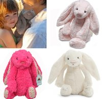 Wholesale Girls Christmas New Year Gifts Cute Rabbit Stuffed Toys Kawaii Girl Children Plush Bunny Toy Kids Stuff Animals Plushed Doll Rabbits D3002