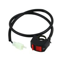 Wholesale 10pcs Universal Handlebar Motorcycle Accident Hazard Light Switch ON OFF Button
