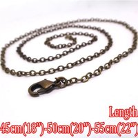 Chains antique iron jewelry - piece Antique Bronze mm DIY IRON CHAINS Jewelry with mm Lobster Clasp