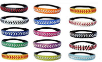 Wholesale Multi Color leather fastpitch softball headbands DHL