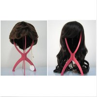 Wholesale New PC Folding Stable Durable Plastic Wig Hair Hat Cap Holder Stand Display Tool